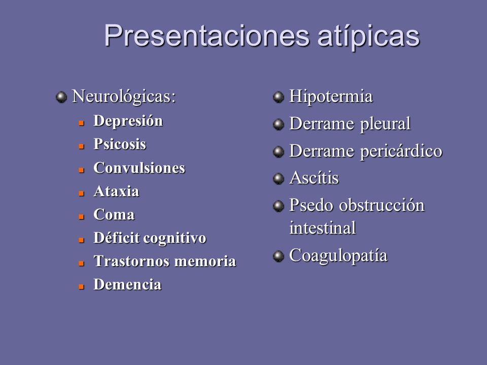 Presentaciones atípicas