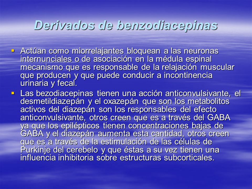Derivados de benzodiacepinas