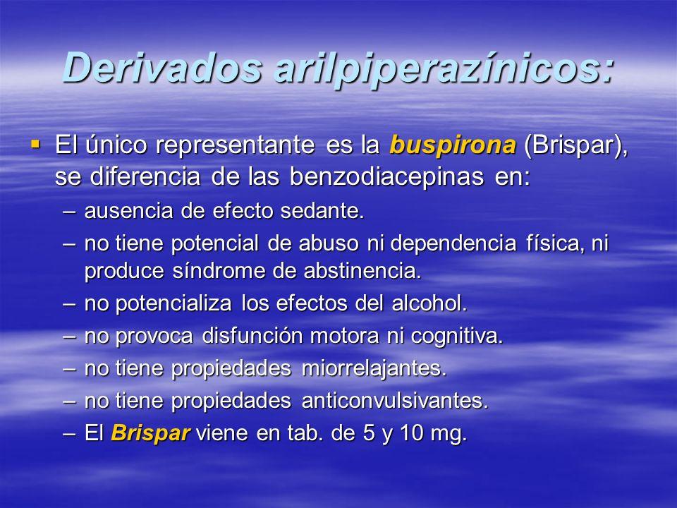 Derivados arilpiperazínicos: