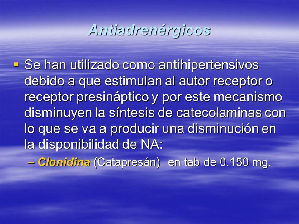 Antiadrenérgicos