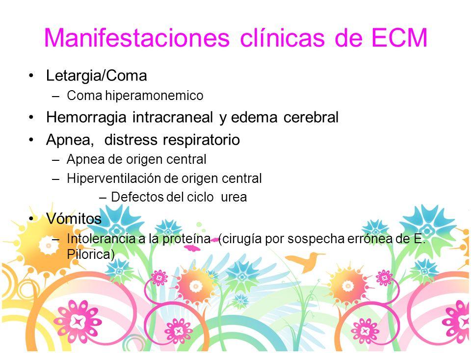 Manifestaciones clínicas de ECM