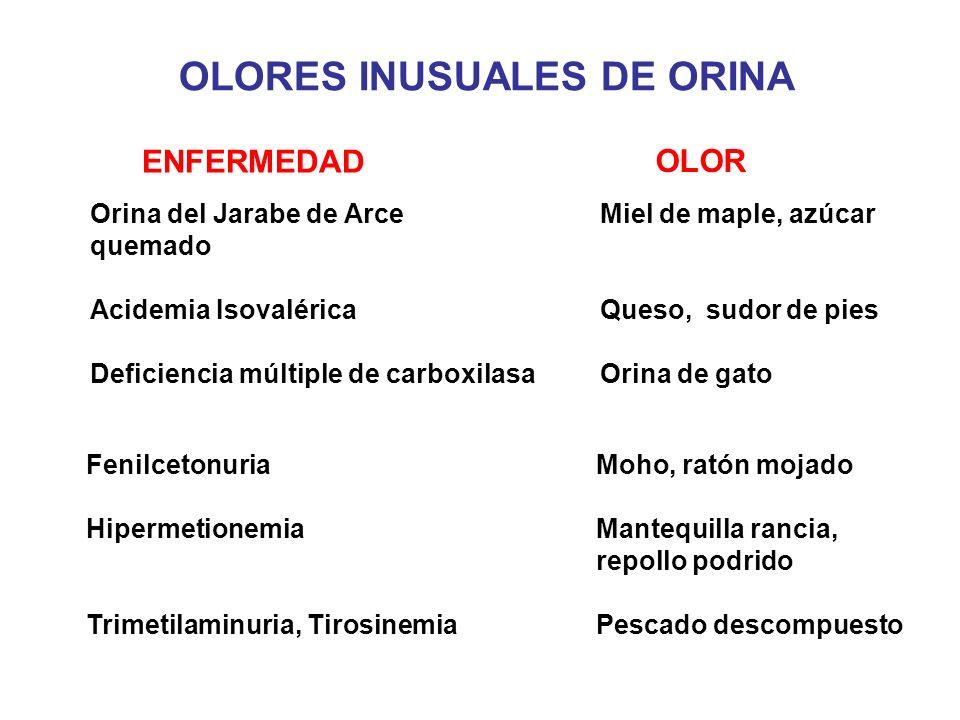 OLORES INUSUALES DE ORINA