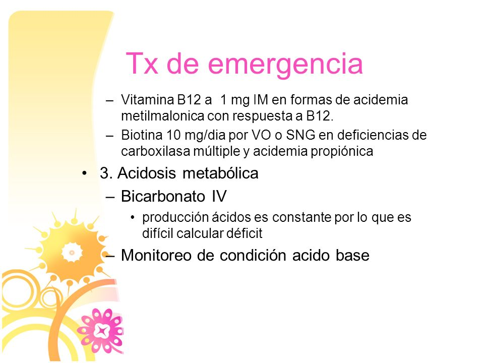 Tx de emergencia 3. Acidosis metabólica Bicarbonato IV