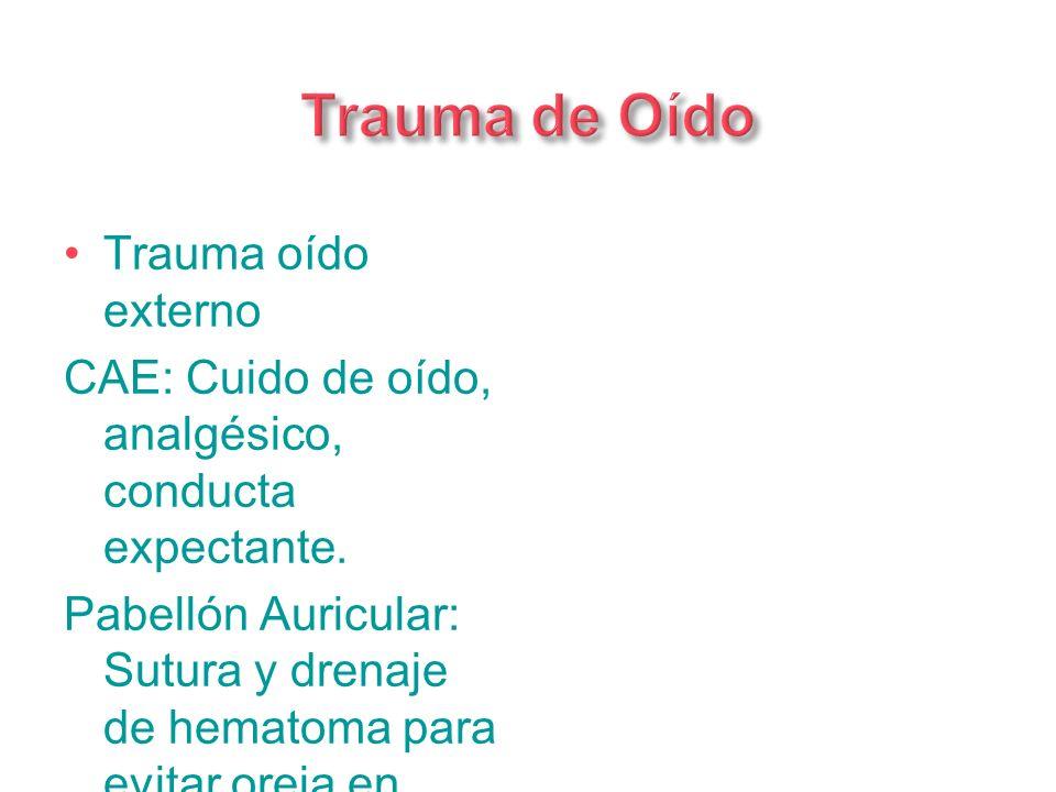 Trauma de Oído Trauma oído externo