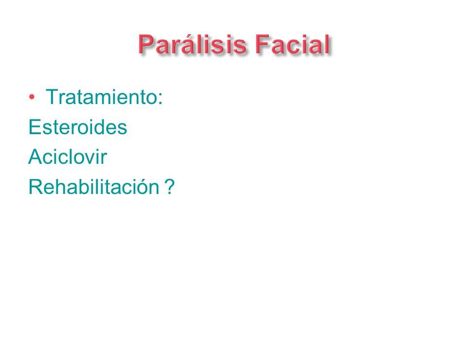 Parálisis Facial Tratamiento: Esteroides Aciclovir Rehabilitación