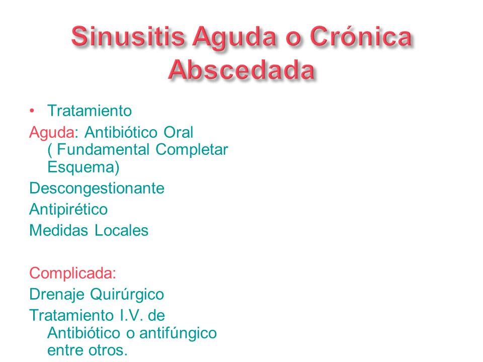 Sinusitis Aguda o Crónica Abscedada