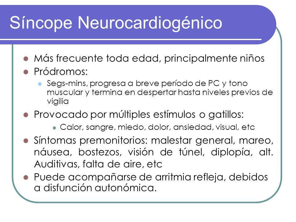 Síncope Neurocardiogénico