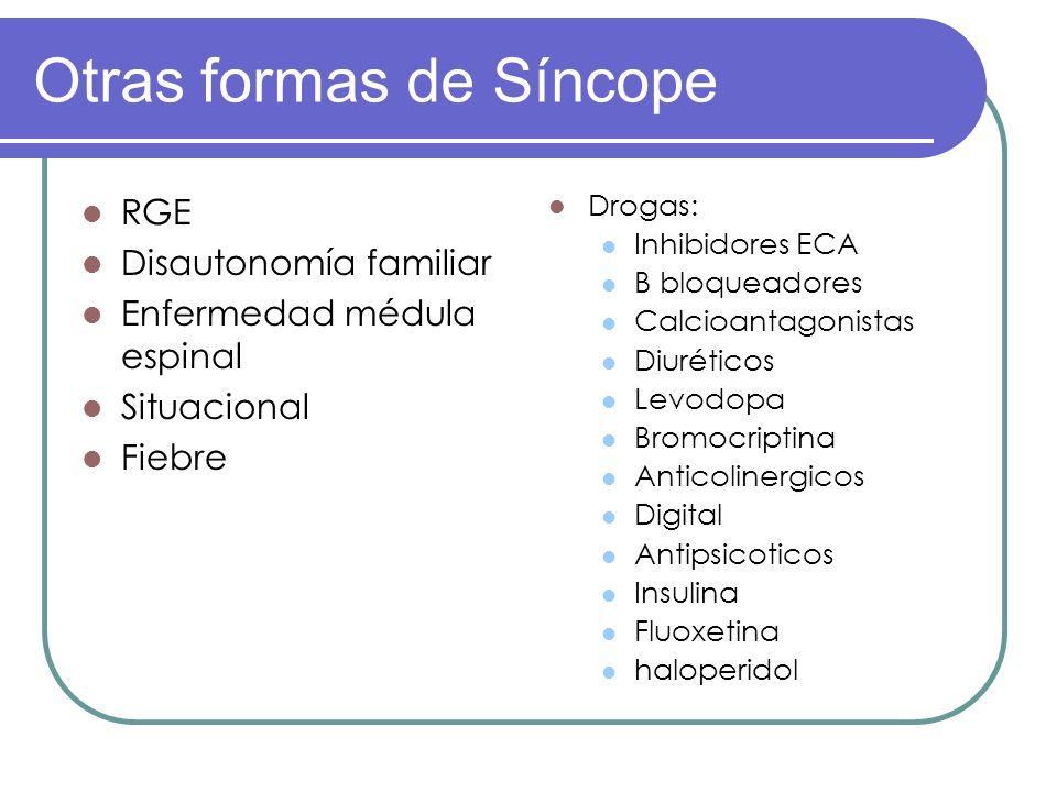 Otras formas de Síncope