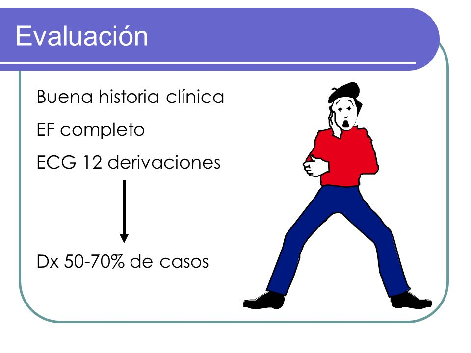 Evaluación Buena historia clínica EF completo ECG 12 derivaciones