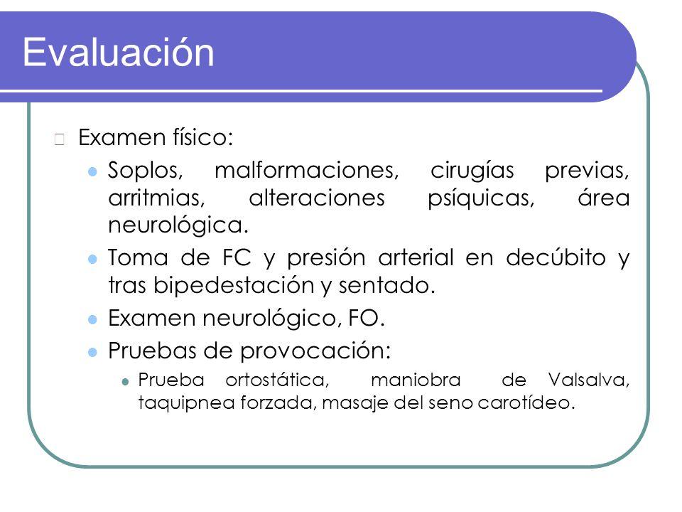 Evaluación Examen físico: