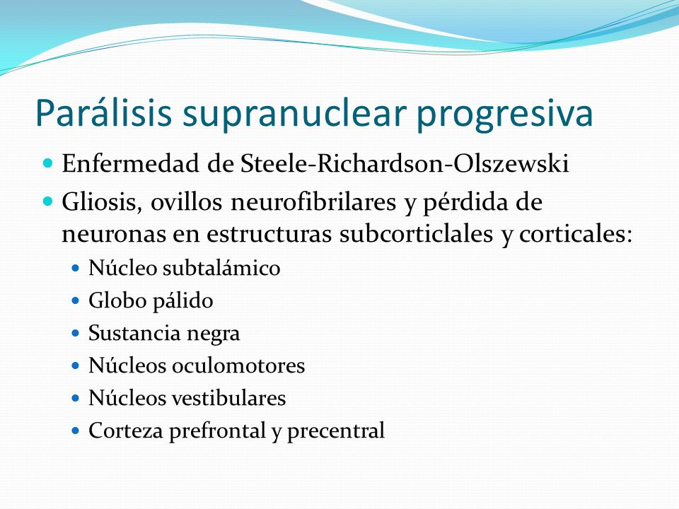 Parálisis supranuclear progresiva