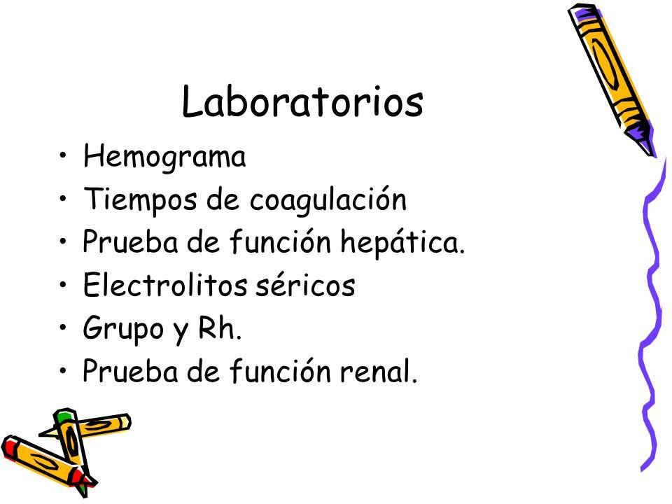 Laboratorios Hemograma Tiempos de coagulación