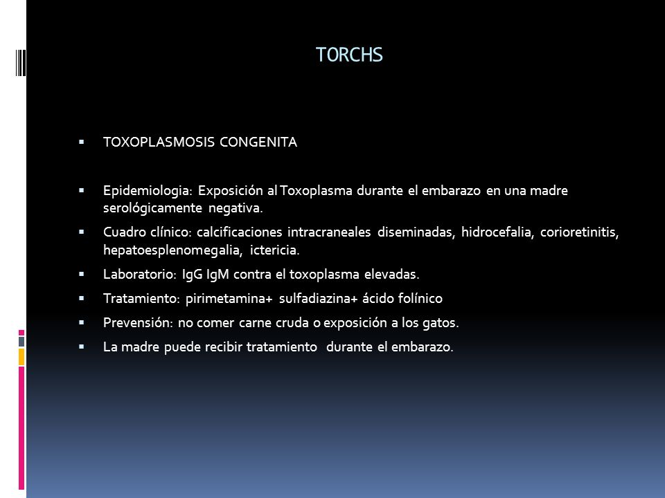 TORCHS TOXOPLASMOSIS CONGENITA
