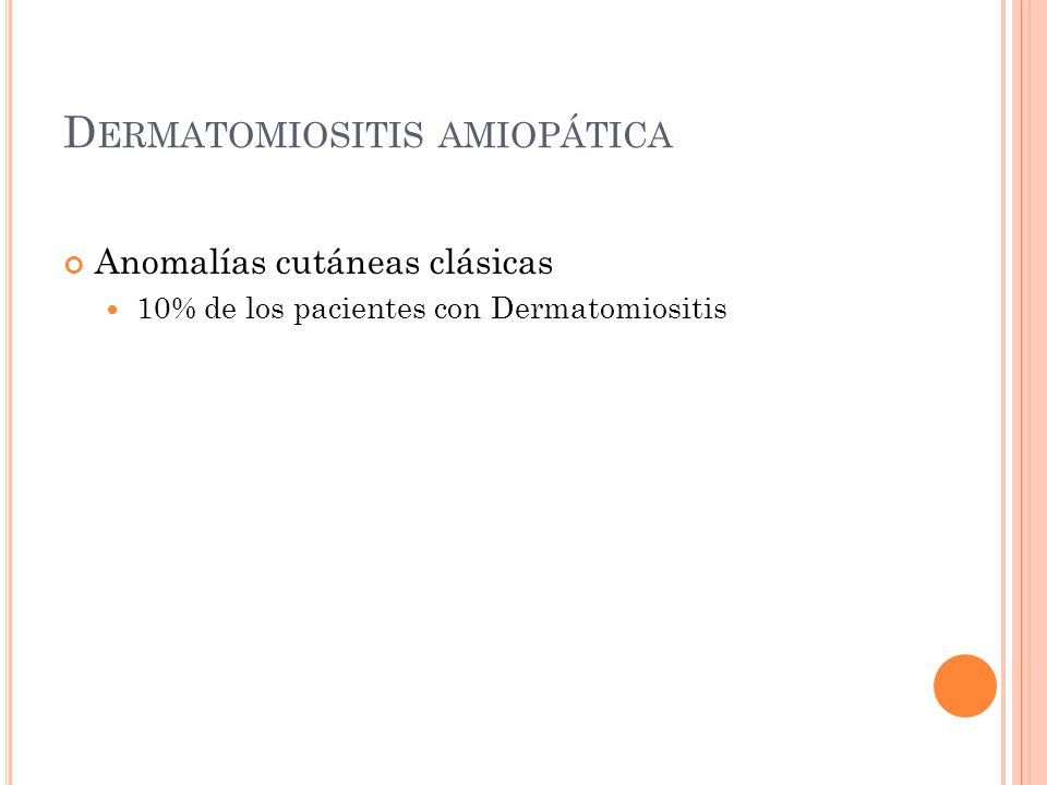Dermatomiositis amiopática