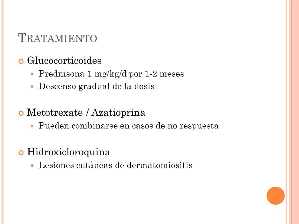 Tratamiento Glucocorticoides Metotrexate / Azatioprina