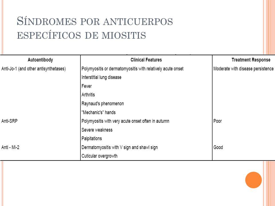 Síndromes por anticuerpos específicos de miositis