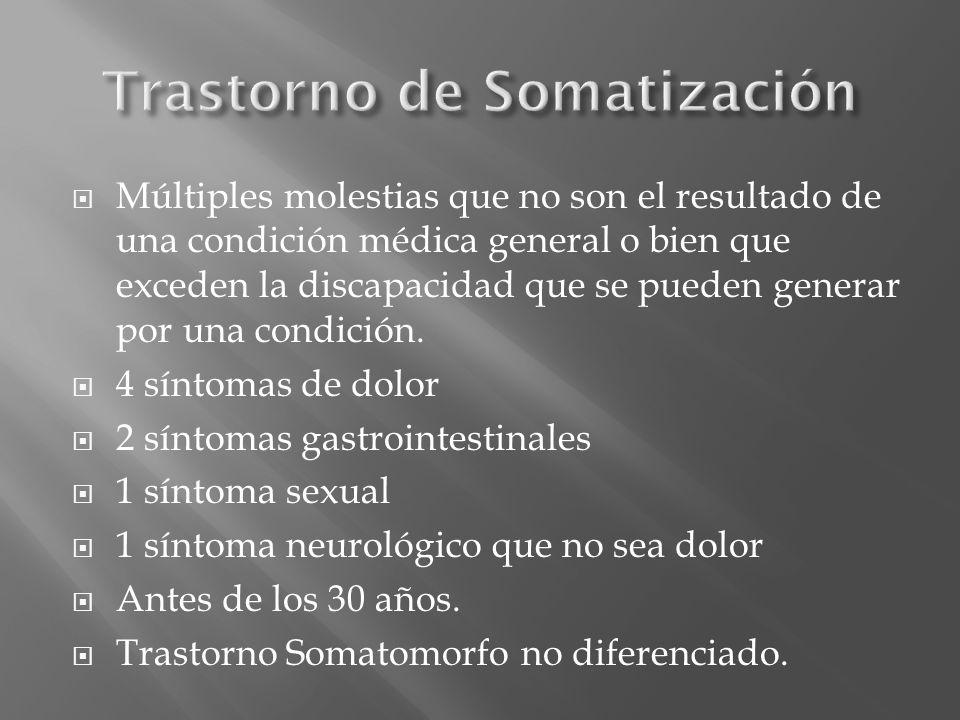 Trastorno de Somatización