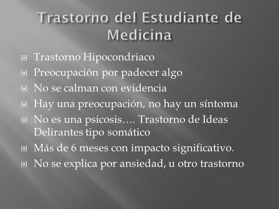 Trastorno del Estudiante de Medicina