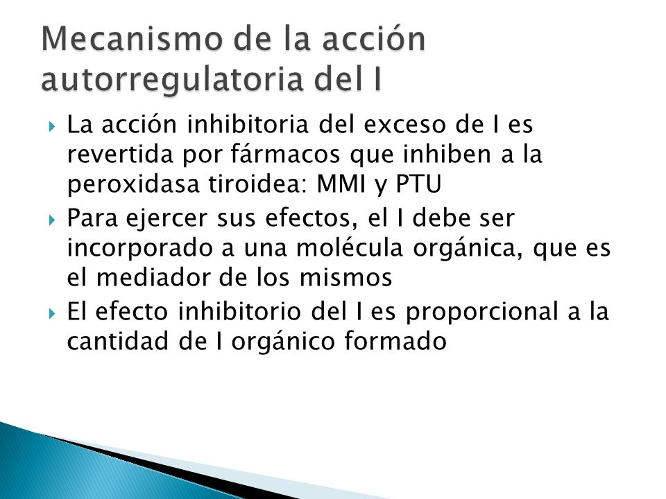 Mecanismo de la acción autorregulatoria del I