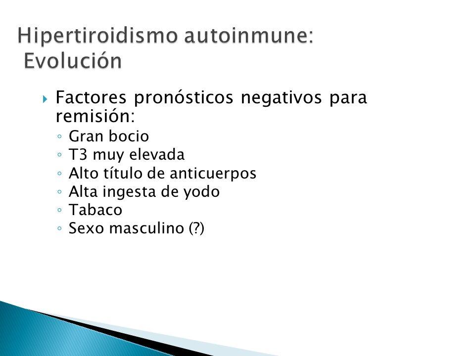 Hipertiroidismo autoinmune: Evolución