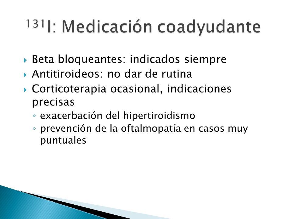 131I: Medicación coadyudante