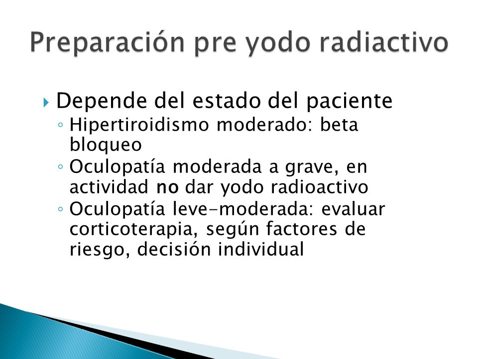 Preparación pre yodo radiactivo
