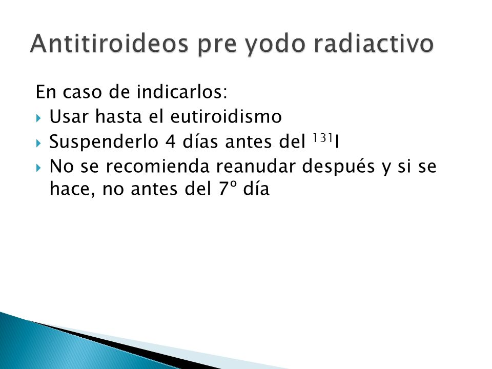 Antitiroideos pre yodo radiactivo