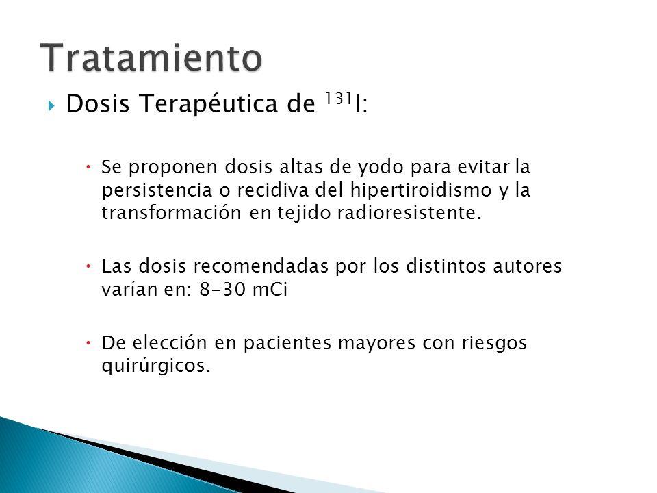 Tratamiento Dosis Terapéutica de 131I: