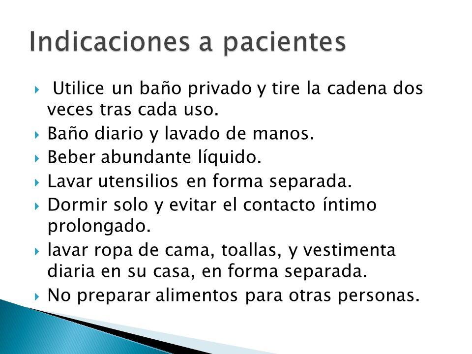 Indicaciones a pacientes