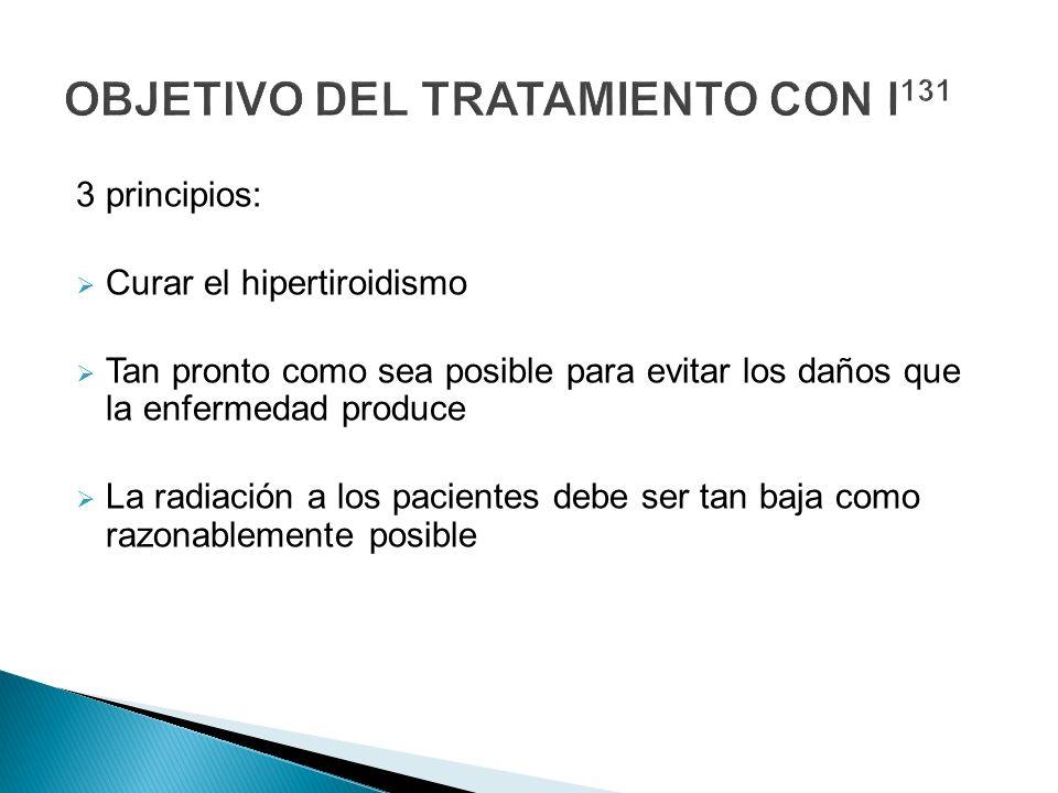 OBJETIVO DEL TRATAMIENTO CON I131