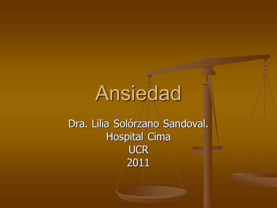Dra. Lilia Solórzano Sandoval. Hospital Cima UCR 2011