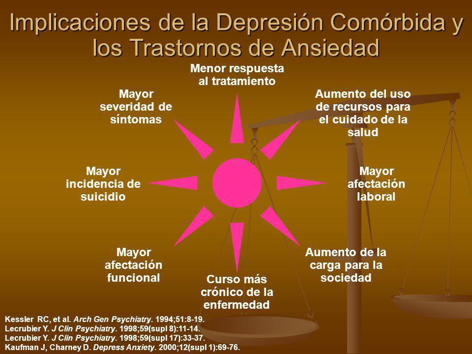 Implicaciones de la Depresión Comórbida y los Trastornos de Ansiedad