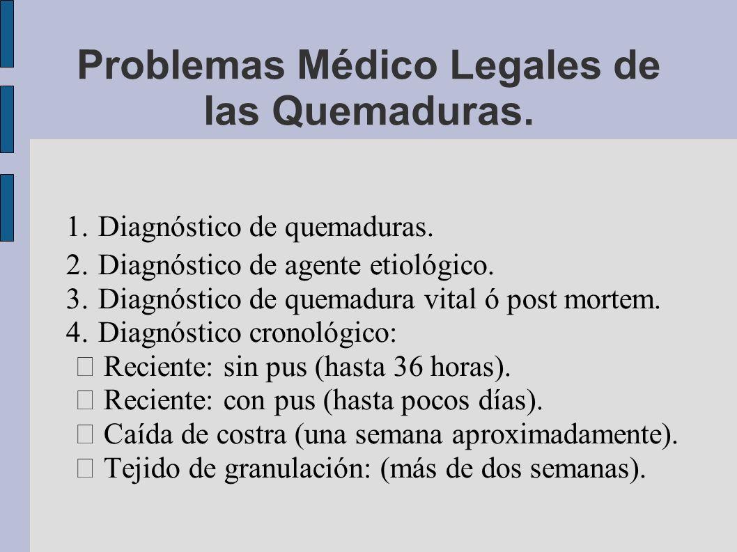 Problemas Médico Legales de las Quemaduras.