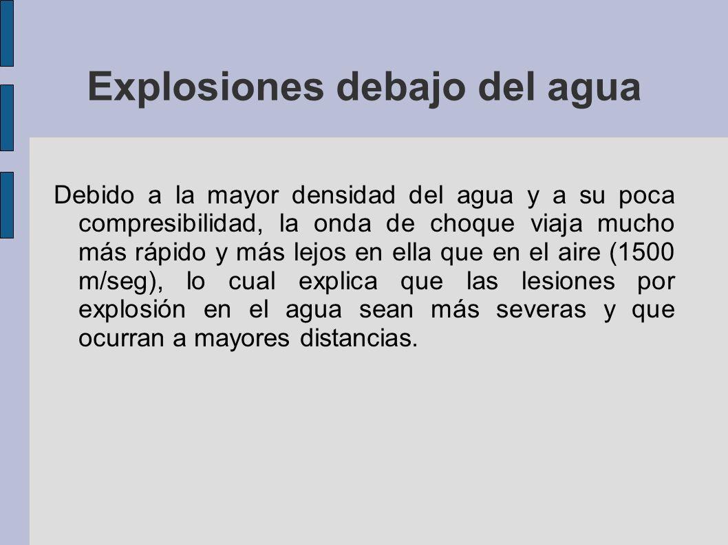 Explosiones debajo del agua