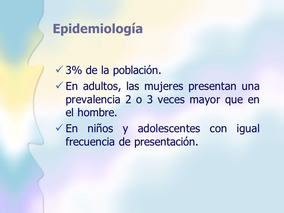 Epidemiología 3% de la población.