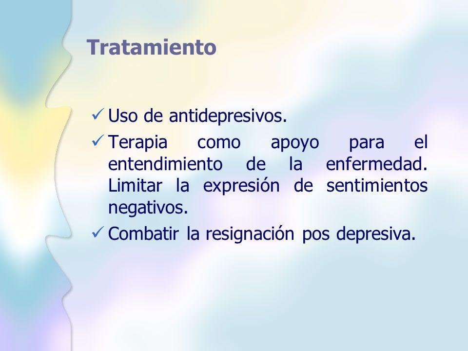 Tratamiento Uso de antidepresivos.