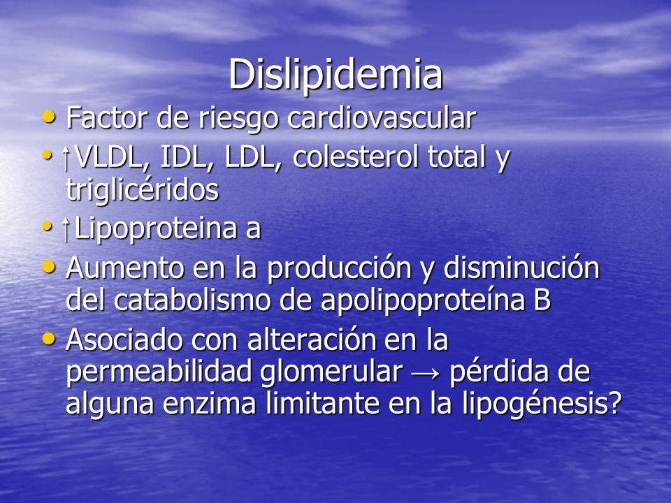 Dislipidemia Factor de riesgo cardiovascular
