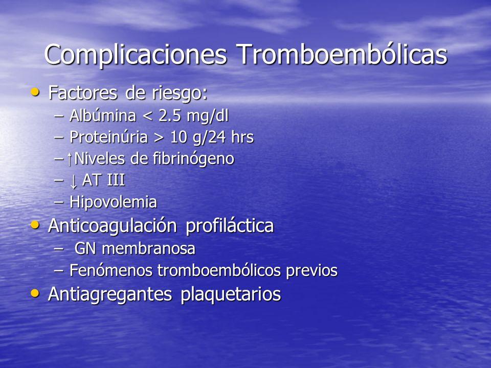 Complicaciones Tromboembólicas