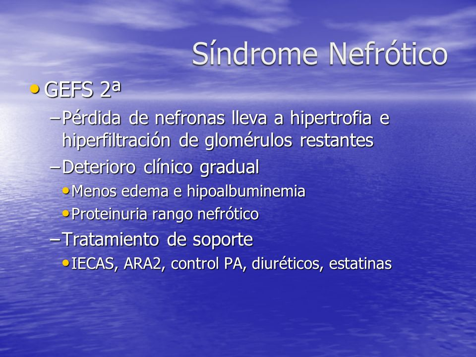 Síndrome Nefrótico GEFS 2ª