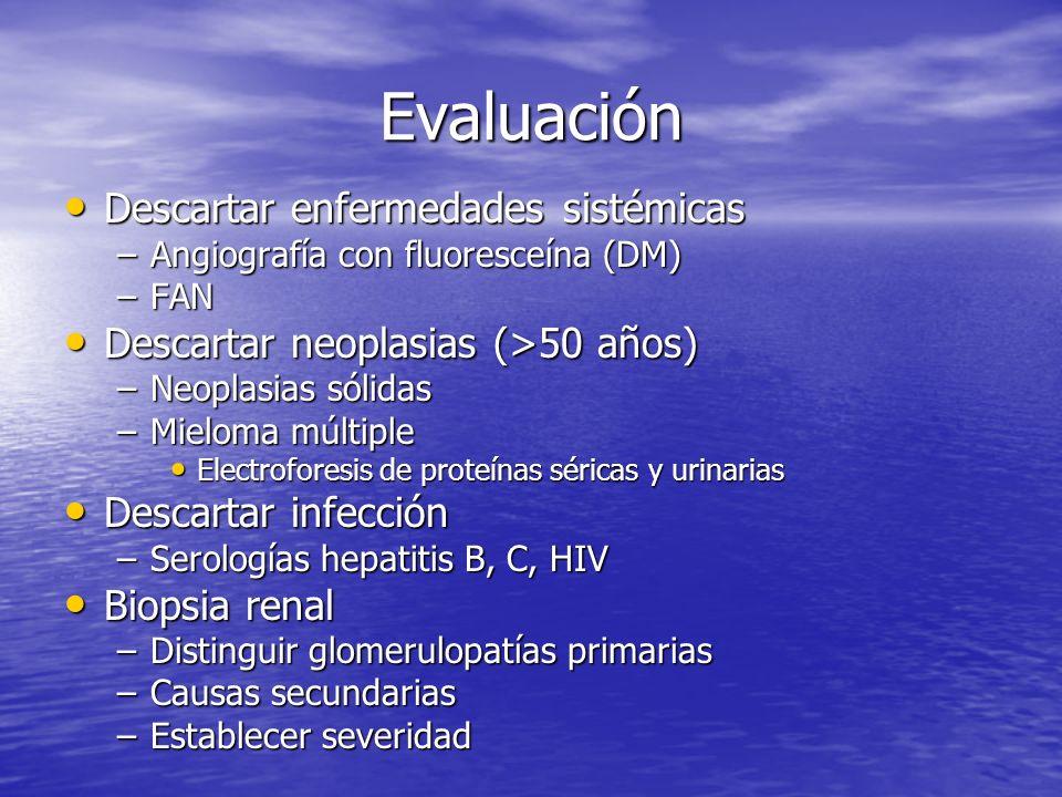 Evaluación Descartar enfermedades sistémicas
