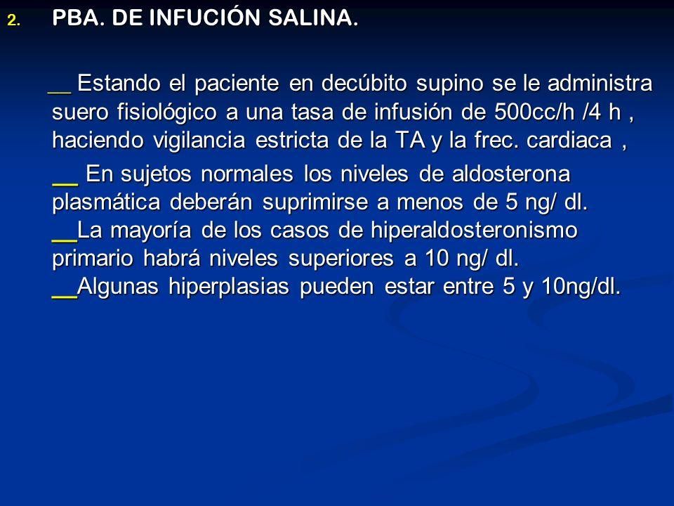 PBA. DE INFUCIÓN SALINA.