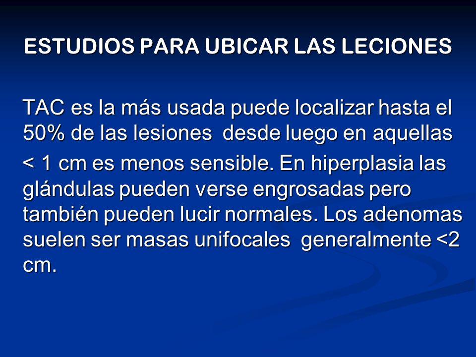 ESTUDIOS PARA UBICAR LAS LECIONES