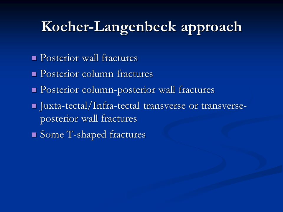 Kocher-Langenbeck approach