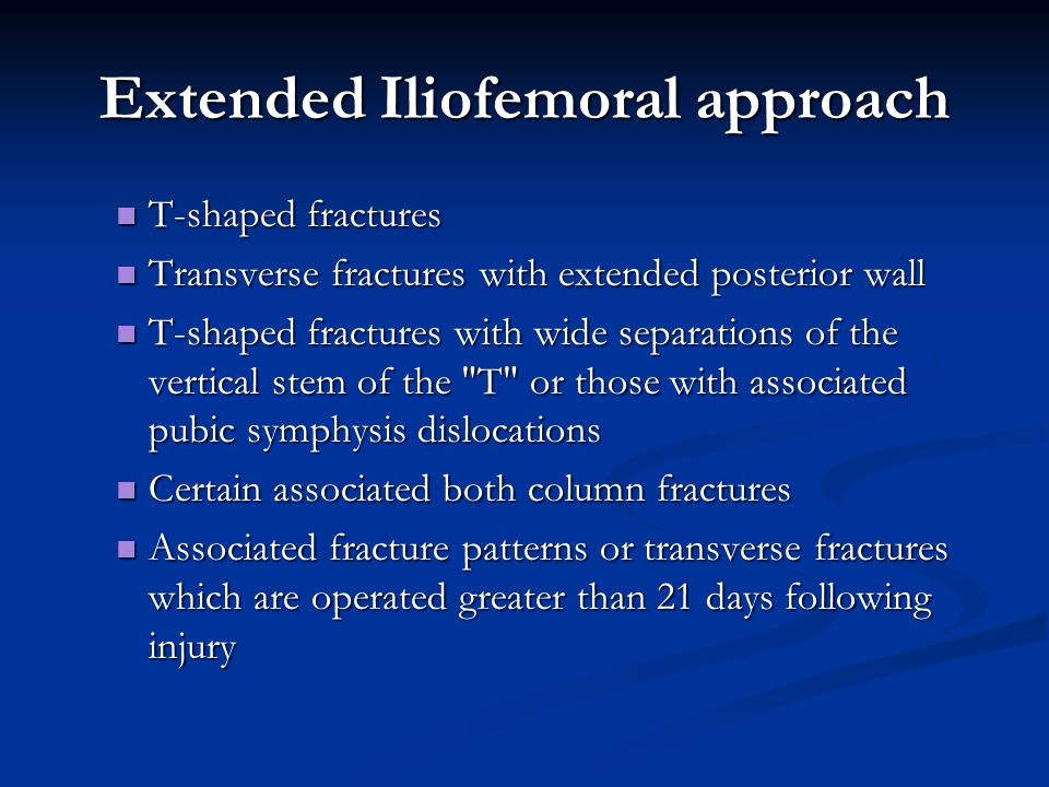 Extended Iliofemoral approach