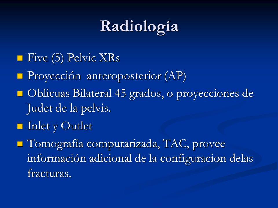 Radiología Five (5) Pelvic XRs Proyección anteroposterior (AP)