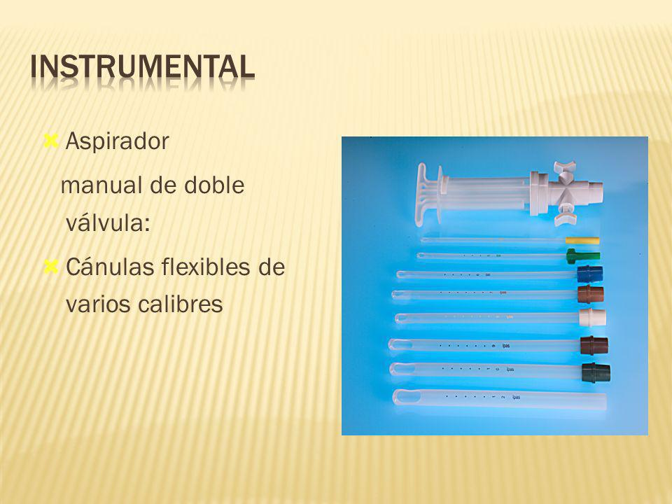 INSTRUMENTAL Aspirador manual de doble válvula: