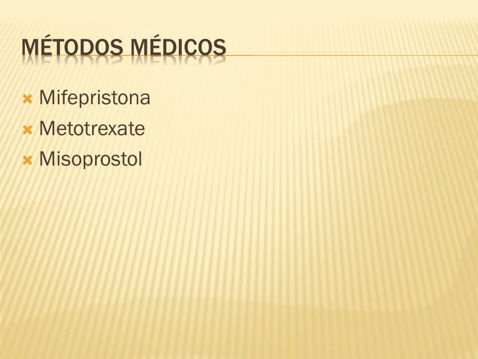 Métodos médicos Mifepristona Metotrexate Misoprostol