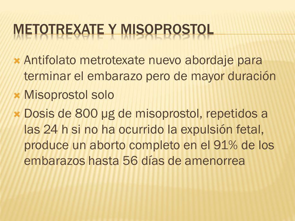 Metotrexate y misoprostol