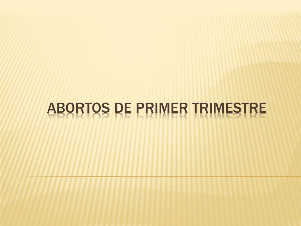 Abortos de primer trimestre