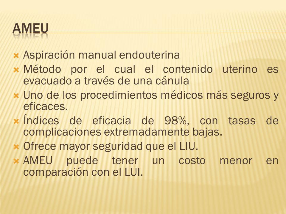 AMEU Aspiración manual endouterina